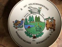 2. Int. Volkswandererung 1982-es német porcelán tányér