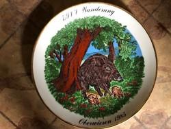 7. IVV Wanderung 1985-ös német porcelán tányér