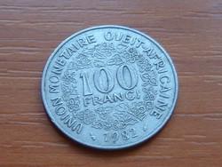 NYUGAT AFRIKA 100 FRANK FRANCS 1982 (a) #