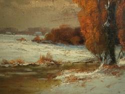 Zeller Mihály (1859-) : Téli patakpart