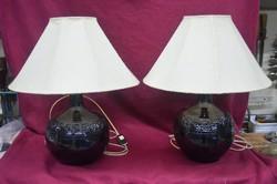 2 db ritka Bod Éva lámpa, különleges fekete, fémes mázzal