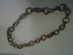 Vastag ezüst vagy ezüstözött unixes nyaklánc  50 cm