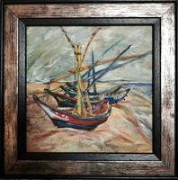 Van Gogh nyomán, olajfestmény reprodukció