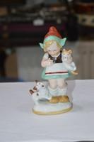 Régi német porcelán figura