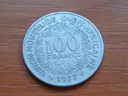 NYUGAT AFRIKA 100 FRANK FRANCS 1977 (a) #