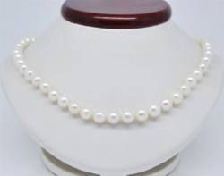 Tenyésztett hófehér déltengeri gyöngy nyaklánc