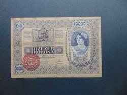 10000 korona 1918 Magyarország Felülbélyegzés ! 03