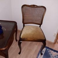 Chippendél barok ratántámlás szék 3+3 drb