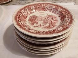 Villeroy&Boch jelenetes tányérok, 5 db lapos, 5 db mély