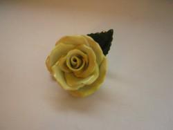 Herendi, nagyszirmú sárga rózsa 1.