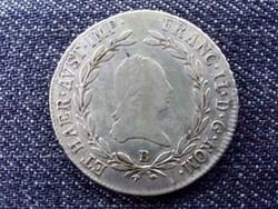 Ausztria II. Ferenc .583 ezüst 20 Krajcár 1805 B / id 14315/