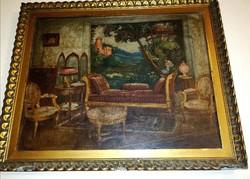 Hadzsy Olga Enteriőr festmény