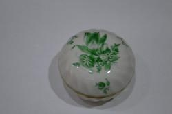 Ó herendi zöld virágmintás kicsi bonbonier