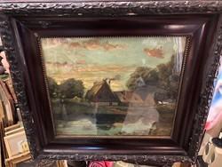 Szepesi Kuszka Jenő akvarellje, eredeti rámában, 65 x 40 cm-es, szignózott