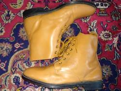 42 ? Magas szárú fűzős bőr cipő, vintage uniszex bakancs, 8