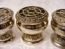 Gyönyörű, jelzett, ezüstözött, pot-pourri kelyhek, készletben vagy darabonként megvehetőek