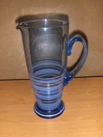 Antik kék üveg vizes boros kancsó (8/d)