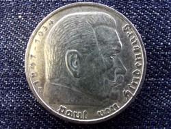 Németország Paul Von Hindenburg (1847-1934) ezüst 5 birodalmi márka 1935 F / id 13863/