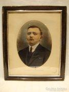 Atelier F.Novák 1920 színes fotó kieretben