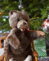 Berg - Tiere mit Herz mackó báb - antik, retro plüss maci - medve, teddy bear