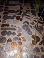 46db dombornyomott érmés levelező lap a világ országaiból