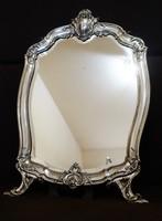 Káprázatos,Francia ezüst asztali tükör! C.1890