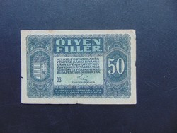 50 fillér 1920  03 sorszám
