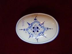 Német porcelán antik szappantartó, Mérete: 13,5 x 9,5 x 5 cm.
