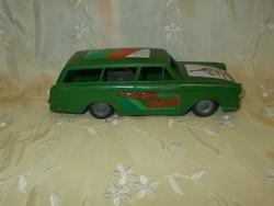 Régi lemezárugyár lendkerekes opel caravan játék autó
