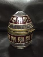 Art deco üveg bonbonier (gyüjtői darab)