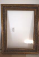 Rusztikus nagyon szép antik képkeret extra széles 15,5 cm-s keret