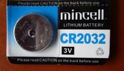 CR2032 vagy CR 2032 lítium elem gombelem 3V-os - ÓRÁKBA SZÁMOLÓGÉPEKBE JÁTÉKOKBA STB...