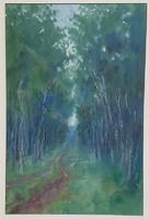Kapicz Margit - Erdőrészlet 46 x 30 cm akvarell, papír