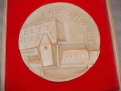 Jelzett  Csekovszky Árpád kerámia plakett
