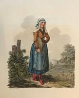 Sopron 1804  metszet népviselet.