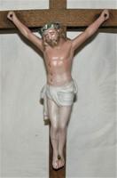Antik Korpusz, Feszület, Kereszt  Porcelán Jézussal