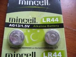 G13 AG13 LR44 alkáli tartós gombelem 1,5V - óraelem - elem karórákba stb. - OLCSÓ POSTÁVAL IS