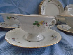 Hétszemélyes kávés és reggeliző barokk készlet nem használt