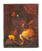 Csendélet, gyümölcs kompozíció vászonra festett