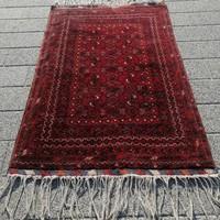 Kézi csomózású afgán törkmen nomád szőnyeg szép állapotban!