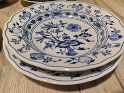 MEISSENi hagymamintás tányérok,hibátlanok , Cseh D koronás jel