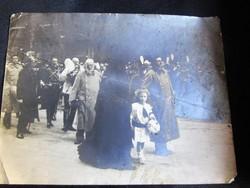 EREDETI FOTÓ FERENC JÓZSEF TEMETÉS BÉCS 1916 CSÁSZÁR MAGYAR KIRÁLY KUK HABSBURG OTTO KÁROLY FŐHERCEG