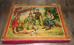 Ritkaság!! régi retro nosztalgia Kis Turisták társasjáték