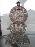 Antik bieder fonalingás kandalló óra