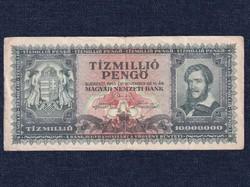 Háború utáni inflációs (1945-1946) 10 millió Pengő bankjegy 1945 / id 14521/