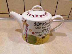 Nagyon szép, igazi ajándéknak való Queens teáskanna :) Hibátlan, sosem használt!