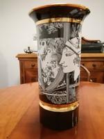 Hollóházi Szász Endre pillangós porcelán váza 30 cm !