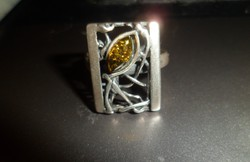 Egyedi ezüst gyűrű