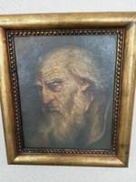 """""""Munkácsy"""" szignóval férfi portré"""