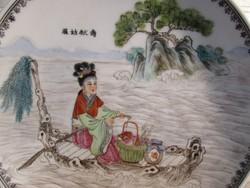 Jelzett Kinai tányér